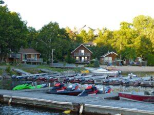 Photo of docks at pleasant cove resort pointe au baril