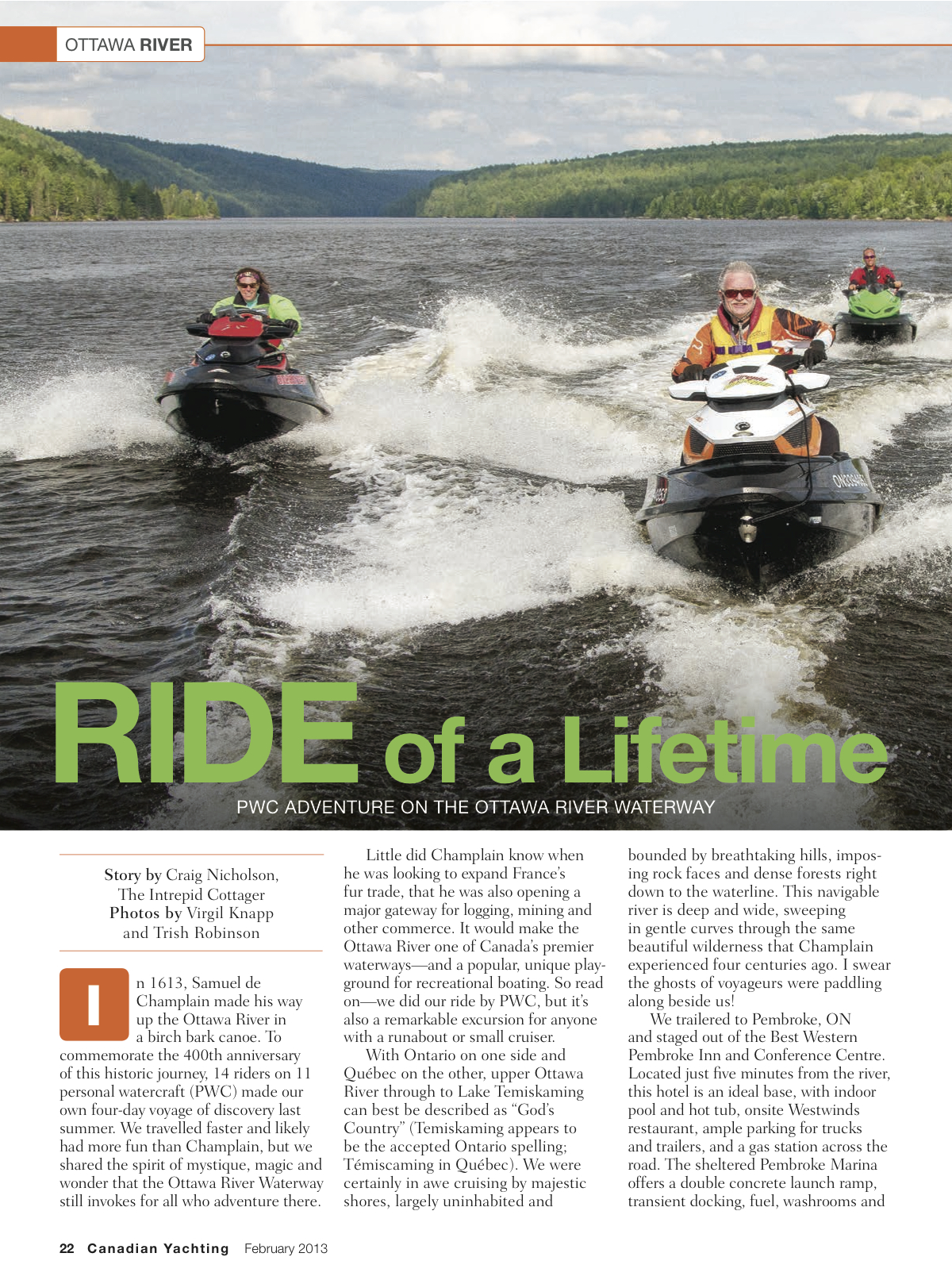 PDF of article on Ottawa River Sea Doo Tour