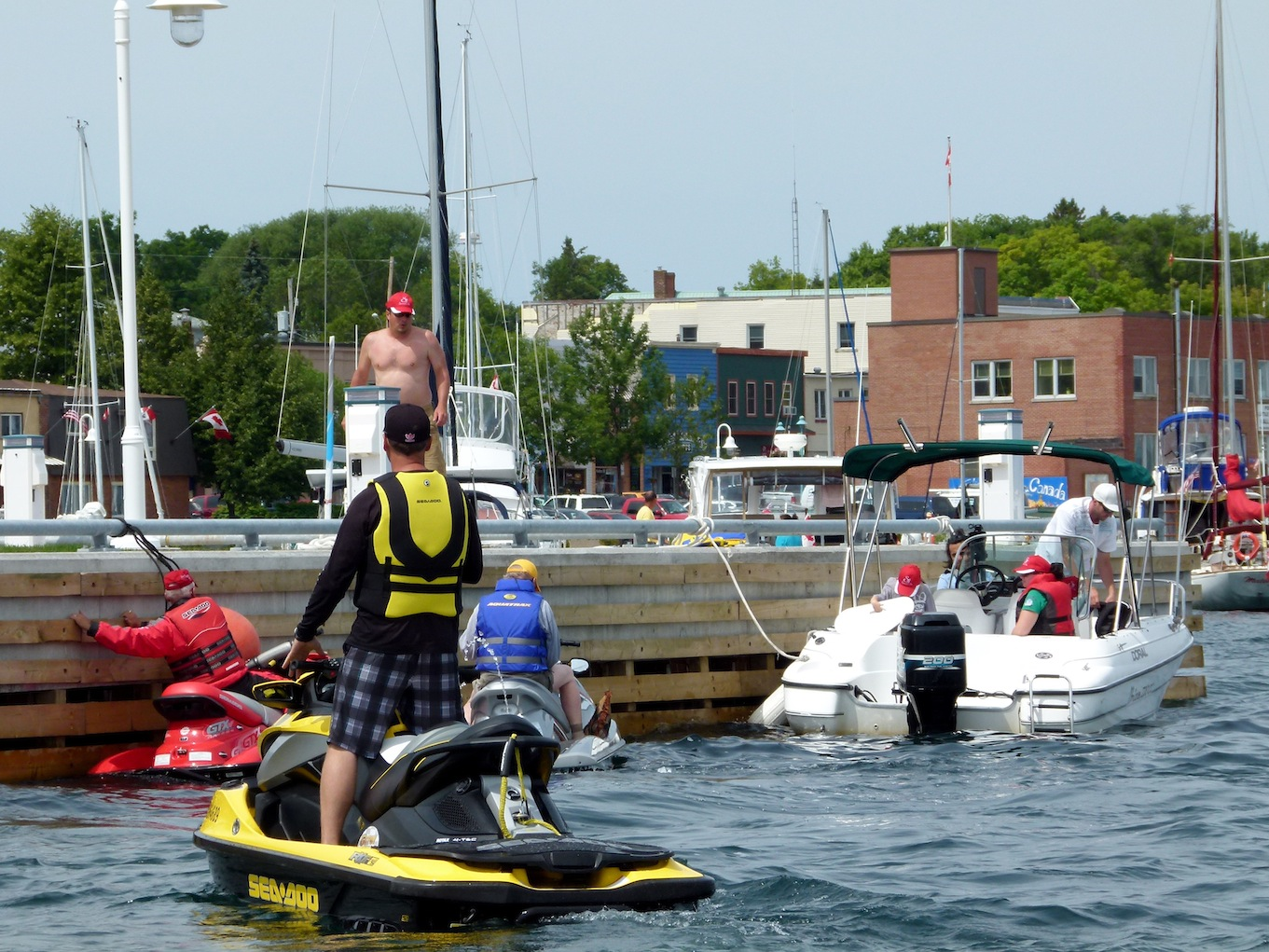 Photo of Little Current waterfront from North Channel Sea Doo Tour Video
