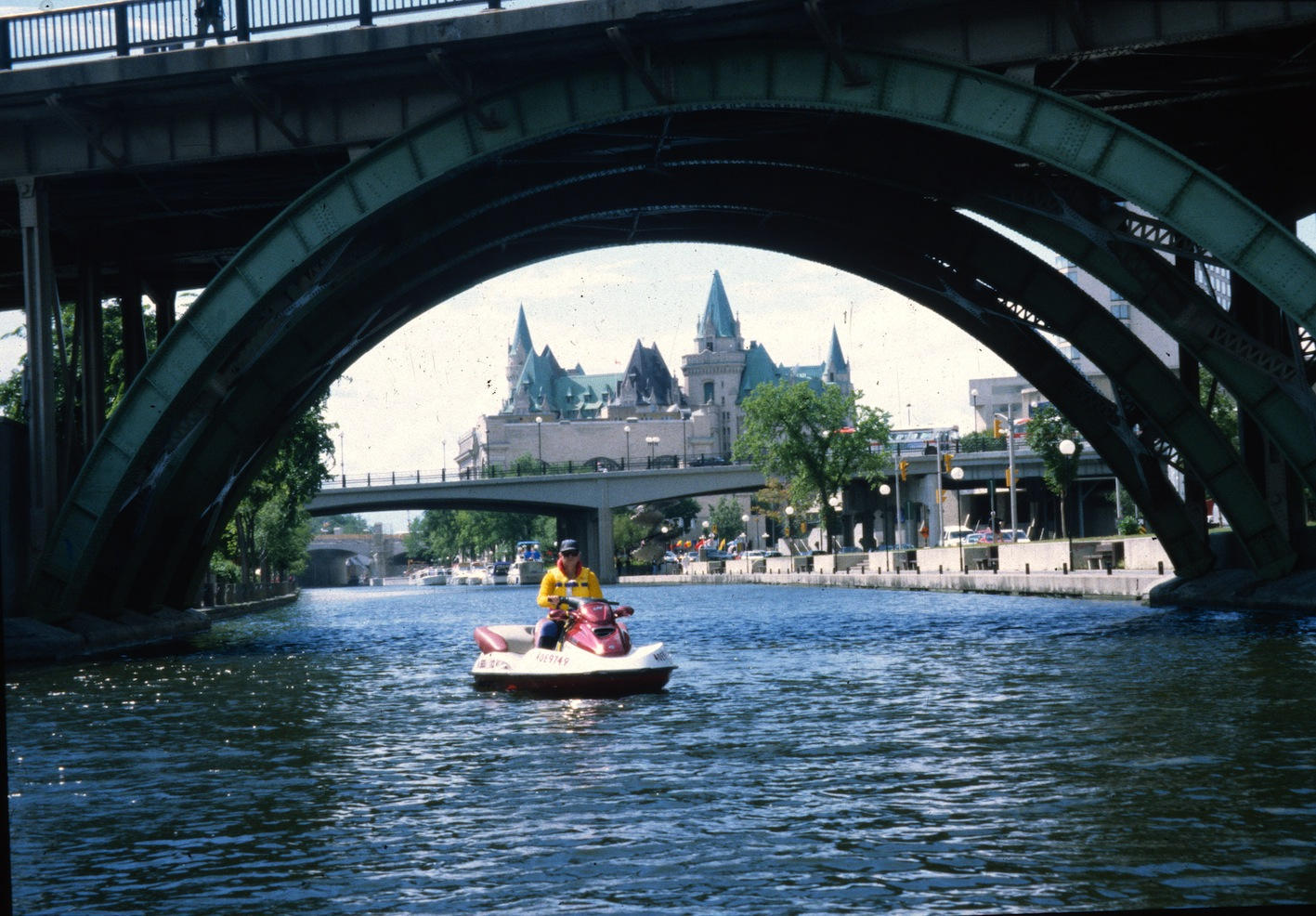 Ottawa Chateau Laurier on the Rideau Canal Sea Doo Tour