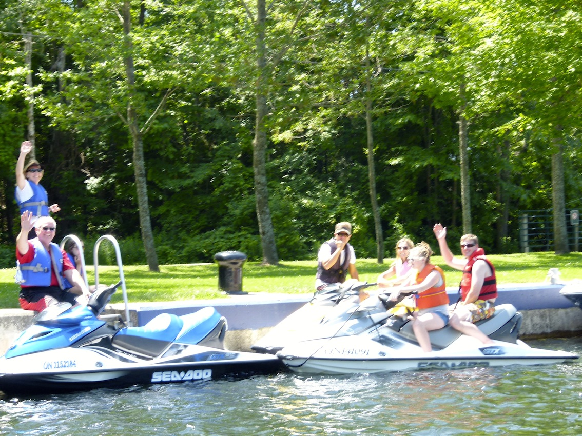 Other riders enjoying their ride on Trent Severn Waterway Sea Doo Tour