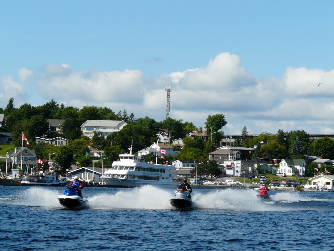 Parry Sound harbour provides good shelter on Severn River Georgian Bay Sea Doo Tour