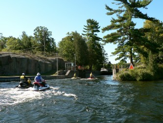 Entering the Lovesick Lock on the Kawartha Lakes Sea Doo tour