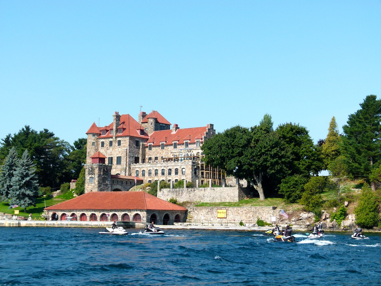 Photo of Boldt Castle from 1000 Islands Sea Doo Tour Video