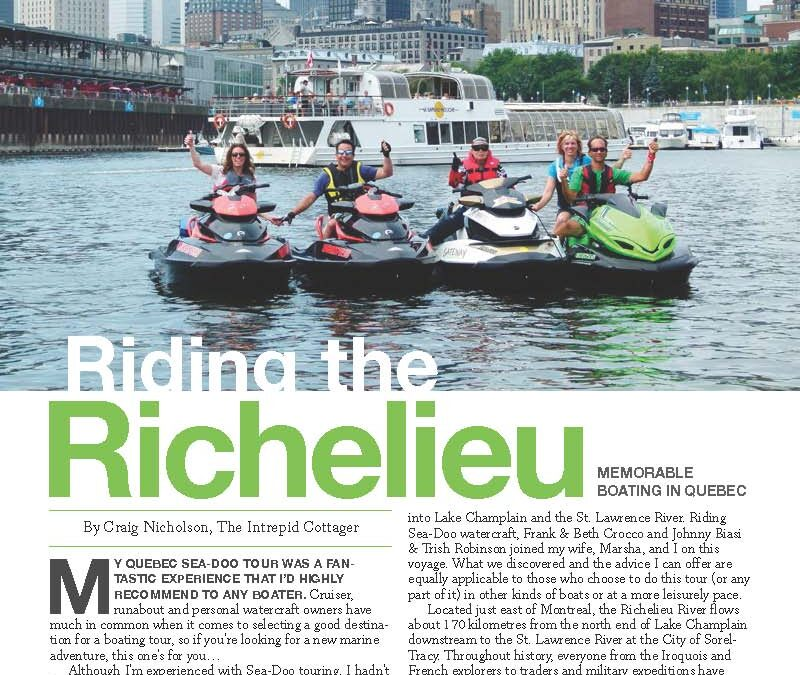 Richelieu River Sea Doo Tour Quebec Ride Planner