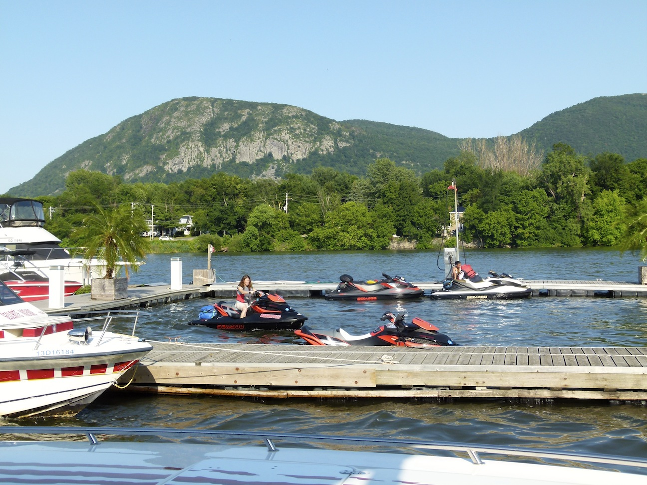 View of Mont-Saint-Hillaire on my Richelieu River Sea Doo Tour