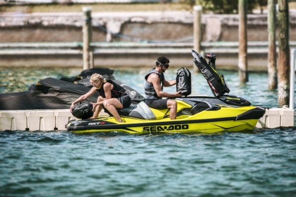 Minimal watertight storage on the new Sea Doo platform