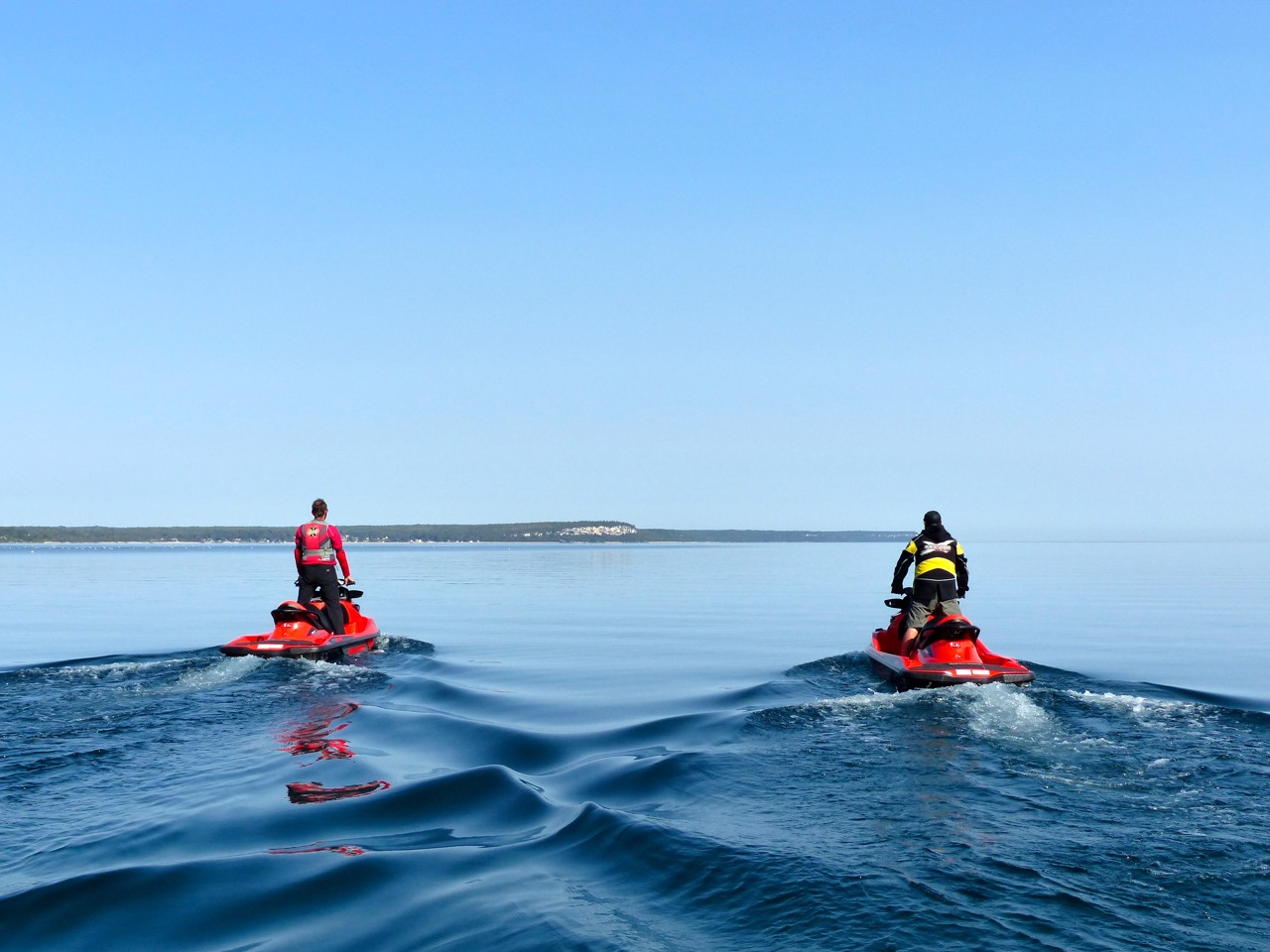 Calm Water on Bruce Peninsula Sea Doo tour