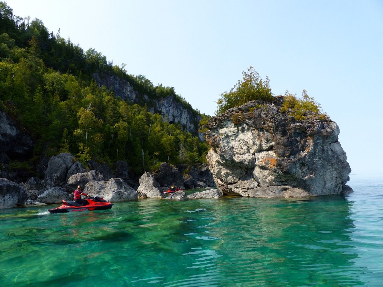 Bruce Peninsula Sea Doo tour rock formations