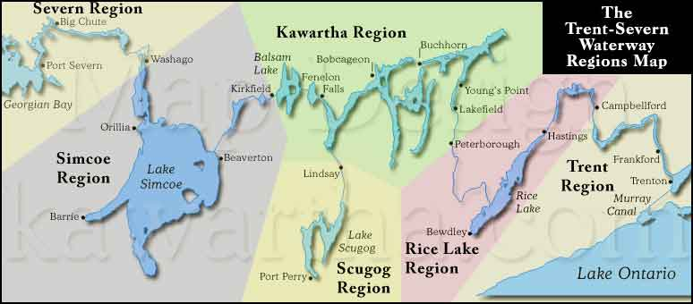 Trent Severn Waterway Map Best Trent Severn Waterway PWC Day Rides   Intrepid Cottager