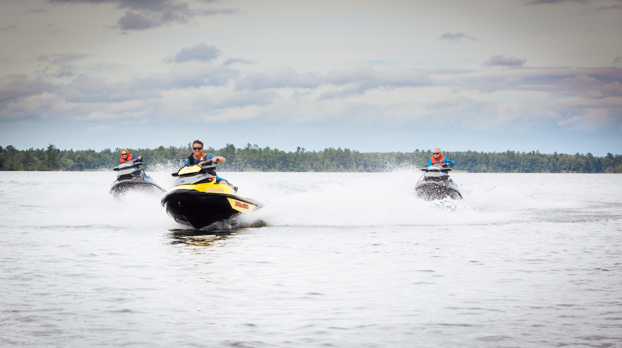 No speed limit on the water according to Ontario PWC boating regs