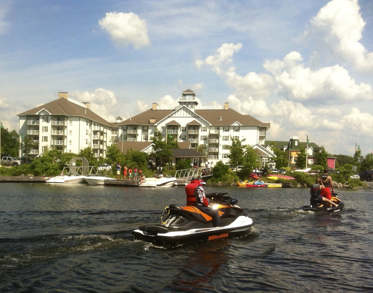 Staging from Residence Inn by Marriott Gravenhurst for a Muskoka fall Sea Doo tour