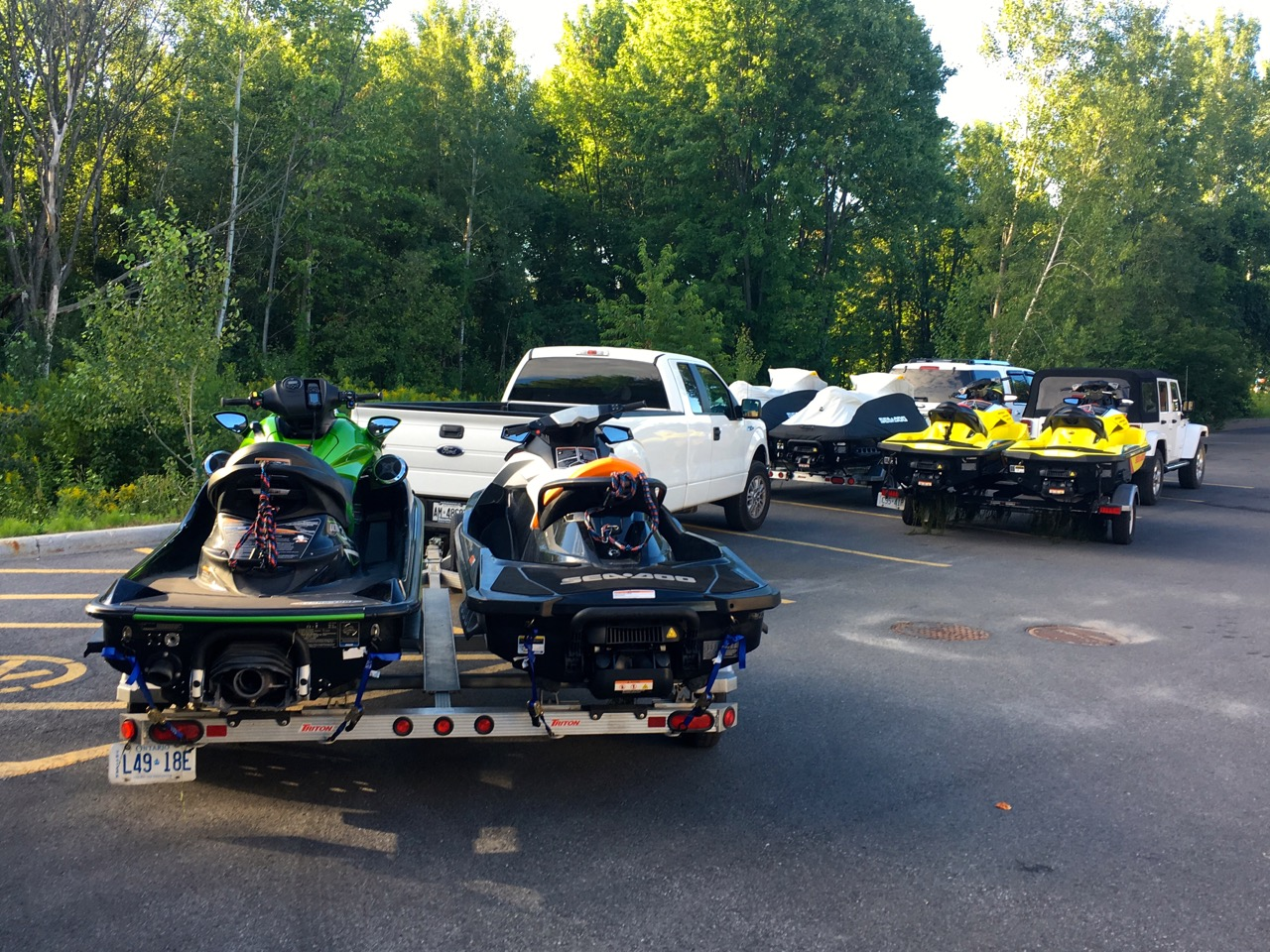 PWC beginners tips include trailering your jet skis safely & securely.